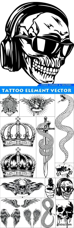 Tattoo element vector 12X EPS
