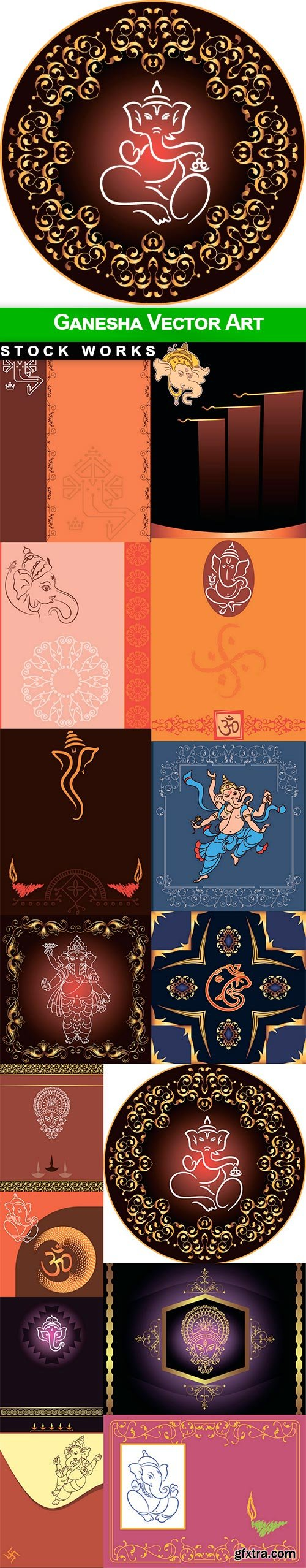 Ganesha Vector Art - 15 EPS