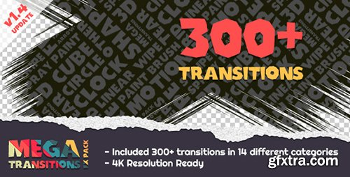 Videohive Mega Transitions FX Pack 9156370