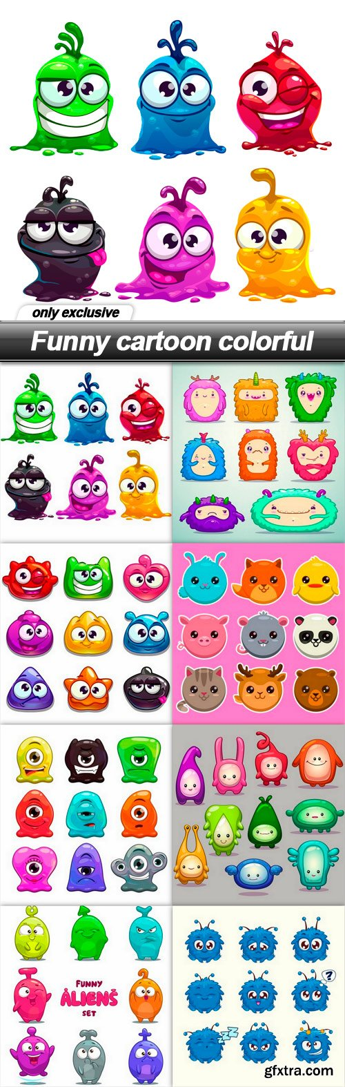 Funny cartoon colorful - 8 EPS