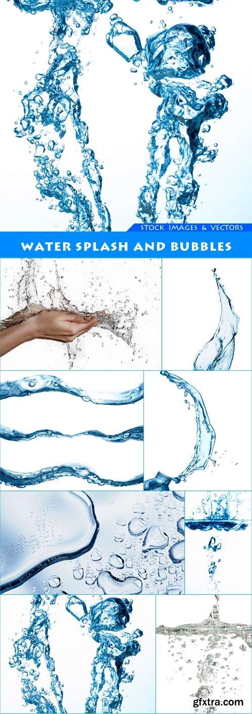 Water splash and bubbles 8X JPEG