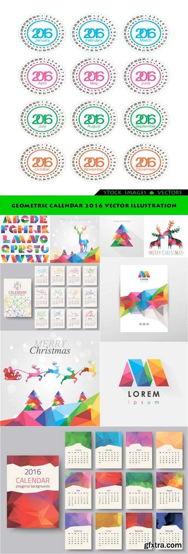 Geometric calendar 2016 Vector Illustration 10x EPS