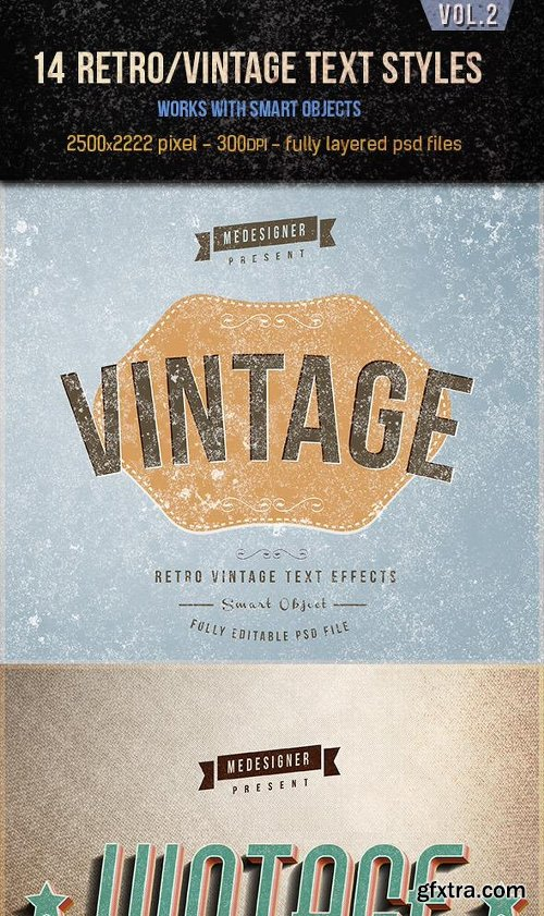 Graphicriver 14 Retro / Vintage Text Effects V.2 12821635
