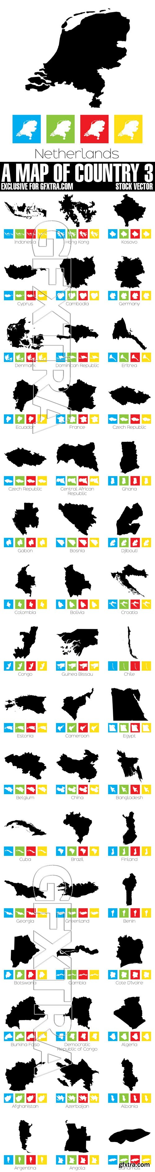 Stock Vectors - A Map Of Country 3
