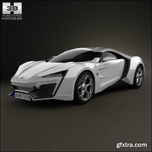 3D model of W Motors Lykan HyperSport 2012
