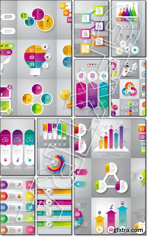 Infographic design template can be used for workflow layout, diagram, number options, web design. Business concept - Vector