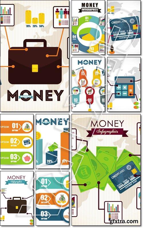 Money infographics design, vector illustration - Vector