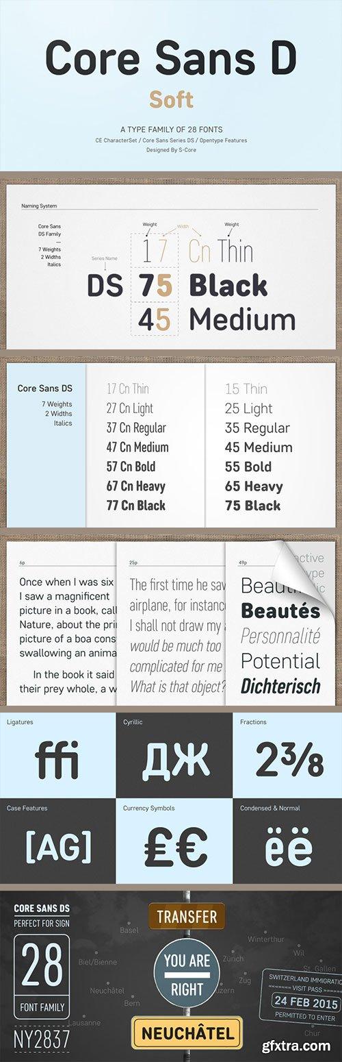Core Sans DS - A Modern Interpretation of Condensed Sans-Serif 28xOTF $280