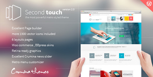 ThemeForest - Second Touch v1.7.5 - Powerful metro styled theme - 5681032