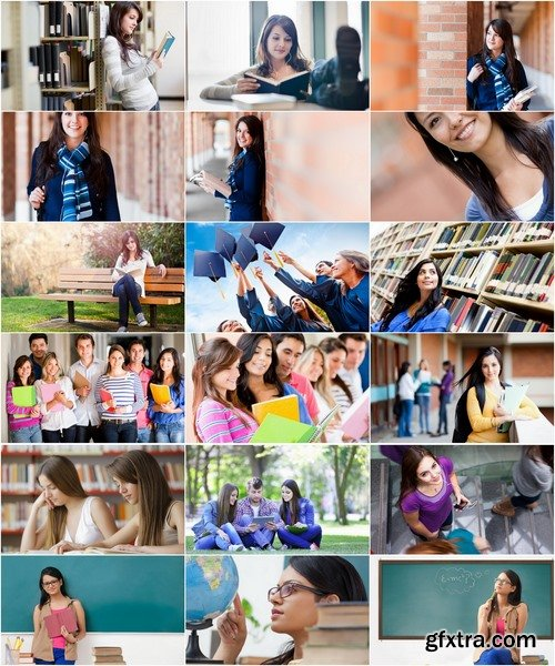 Collection of graduate student education library book teenager high school student 25 HQ Jpeg