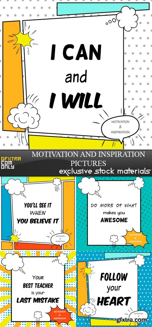 Motivation and Inspiration pictures - 5xEPS