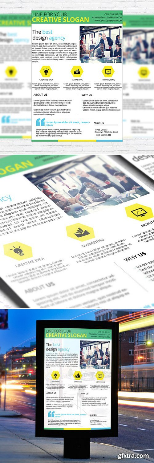 CORPORATE BUSINESS FLYER – BUSINESS FLYER TEMPLATE
