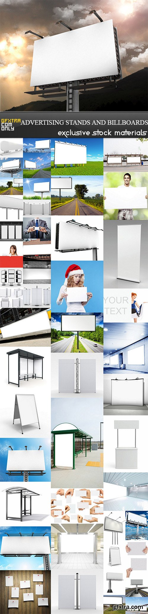 Advertising Stands and Billboards - 50 UHQ JPEG