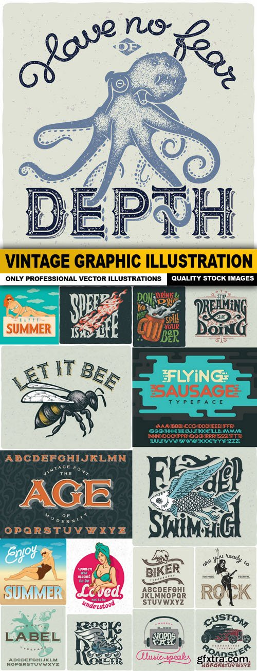 Vintage Graphic Illustration - 17 Vector