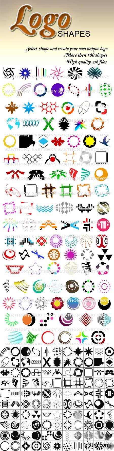 104 Logo Photoshop Shapes (Re-Up)