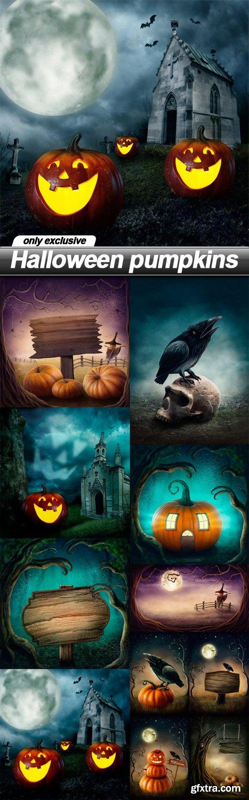 Halloween pumpkins - 11 UHQ JPEG