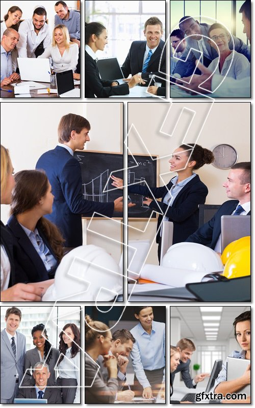 Successful business people having a break together - Stock photo