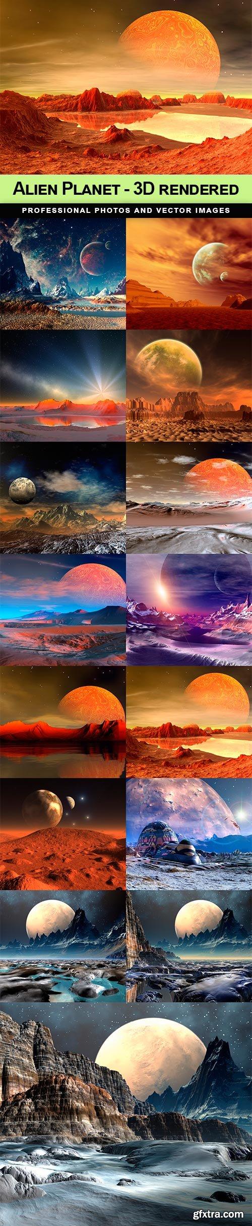Alien Planet - 3D rendered - 15 UHQ JPEG