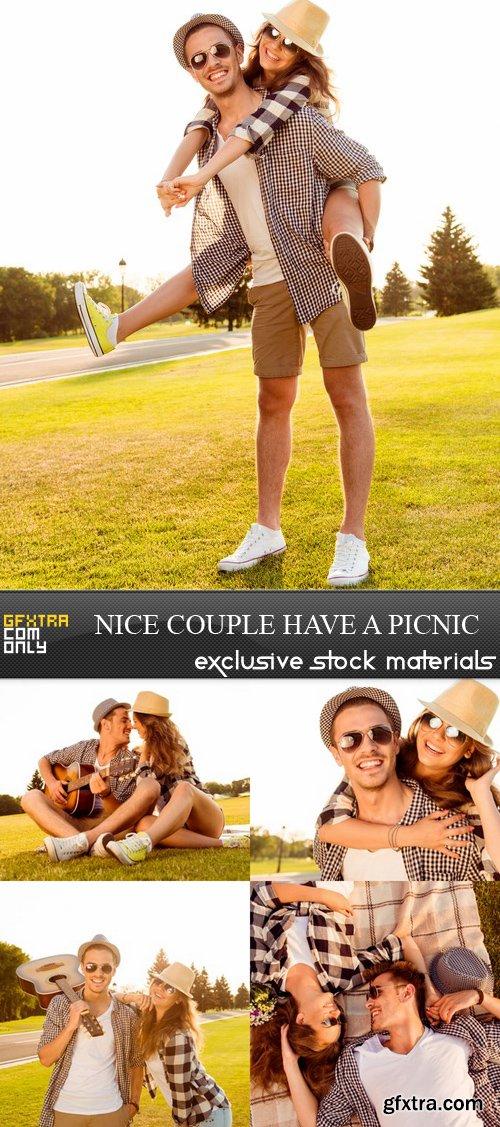 Nice Couple have a Picnic - 5 UHQ JPEG