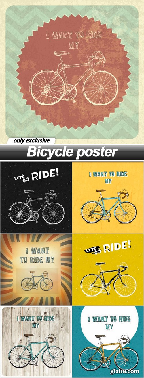 Bicycle poster - 7 EPS