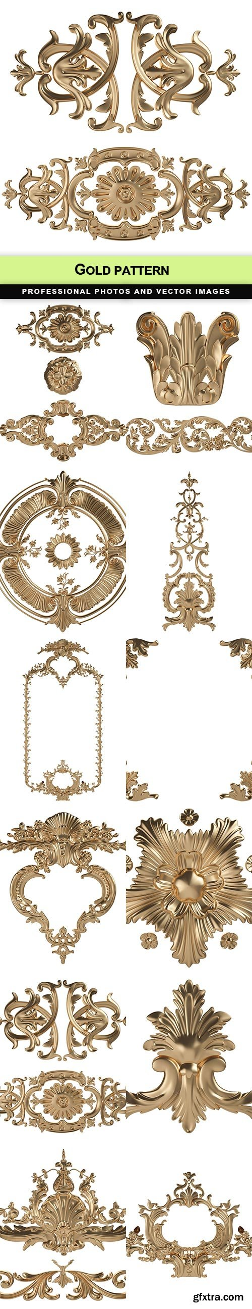 Gold pattern -