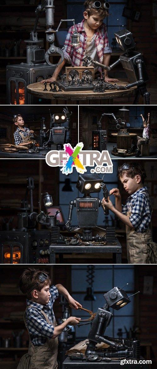 Stock Photo - Boy Mechanic