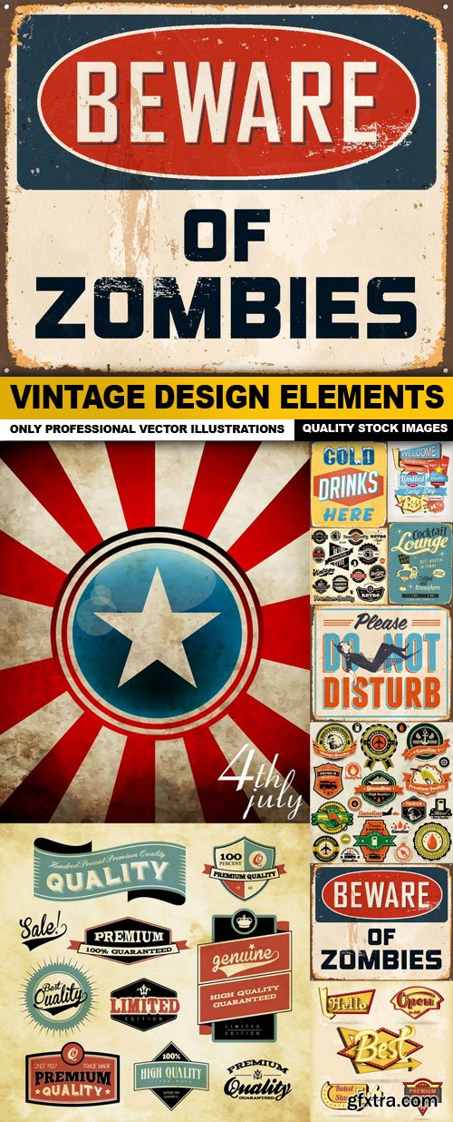 Vintage Design Elements - 10 Vector