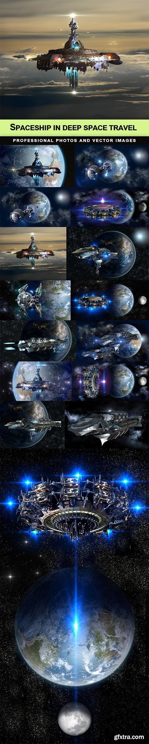 Spaceship in deep space travel - 15 UHQ JPEG