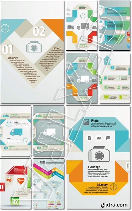 Colorful infographics for your business presentations. Can be used for info graphics, graphic or website - Vector
