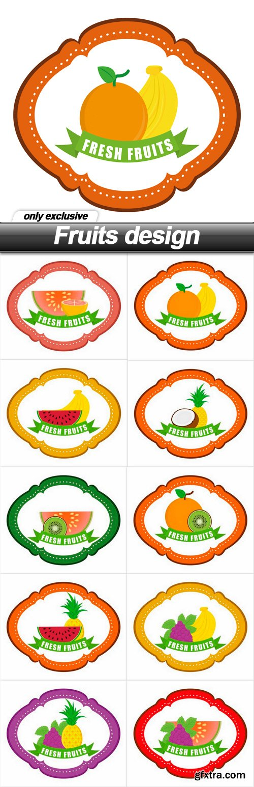 Fruits design - 10 EPS
