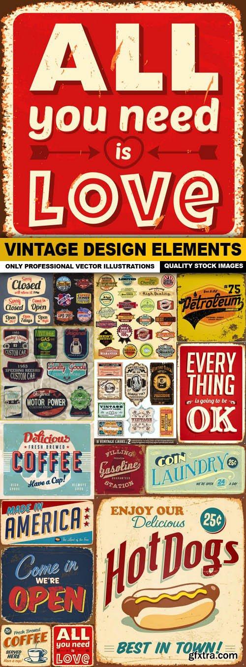 Vintage Design Elements - 15 Vector