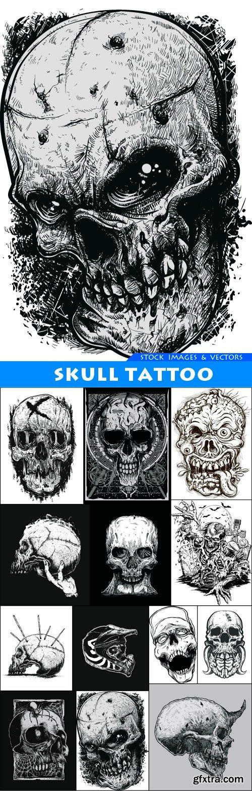 Skull Tattoo 13X EPS