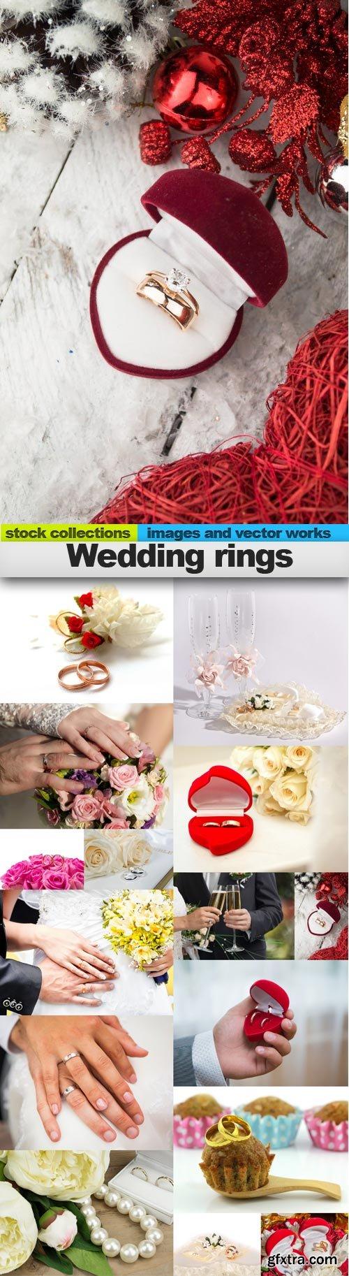 Wedding rings, 15 x UHQ JPEG