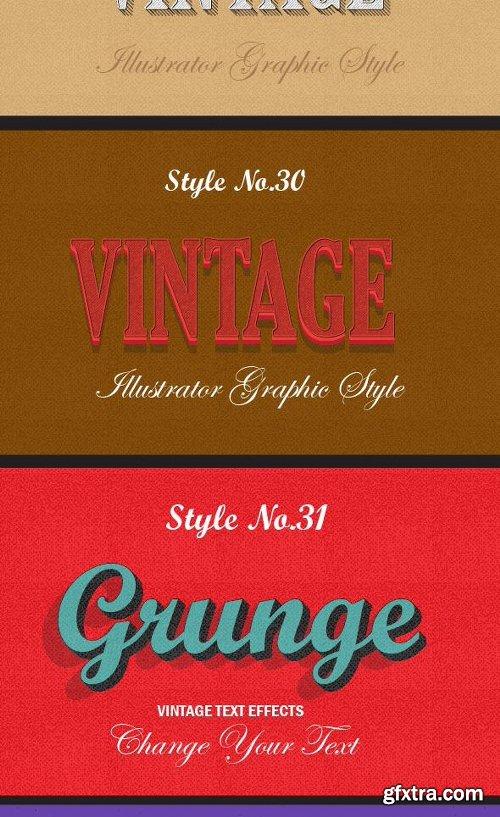 Graphicriver Bundle of Retro Vintage Text Effects 12913324