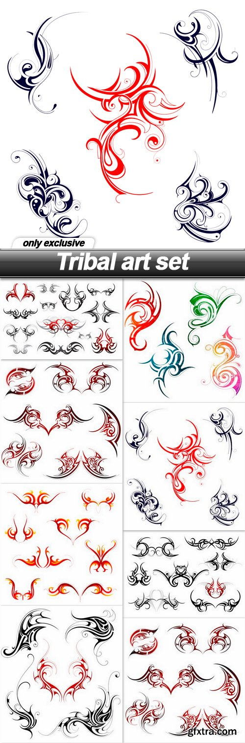 Tribal art set - 8 EPS