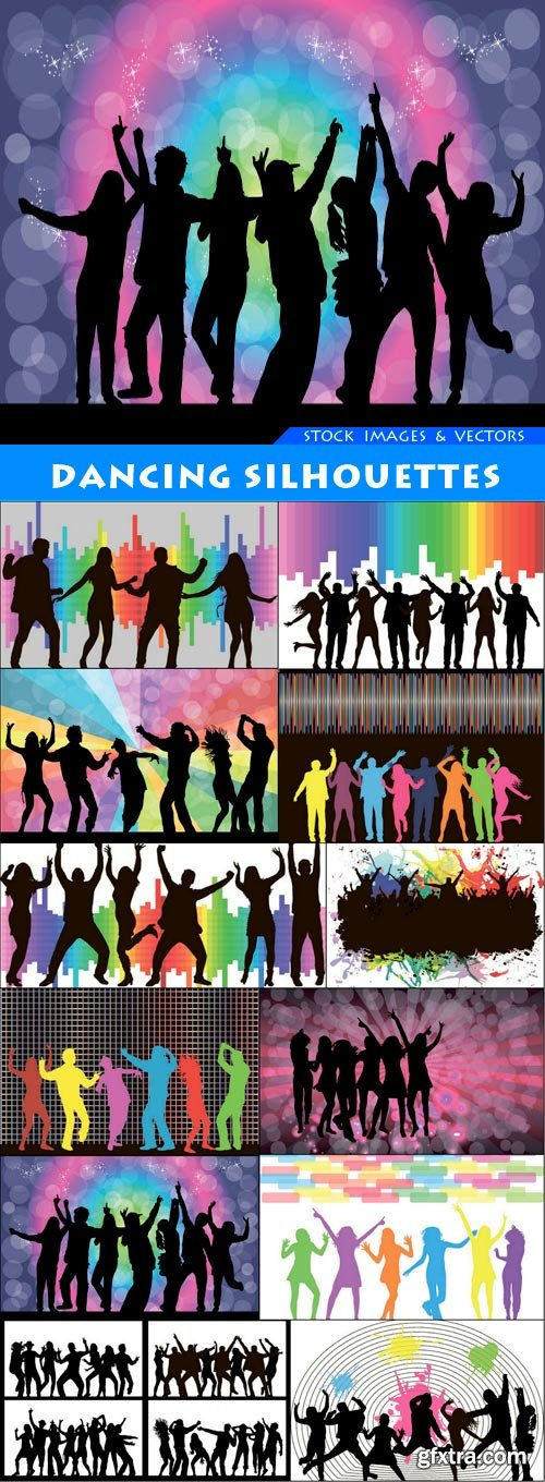 Dancing silhouettes 12X EPS