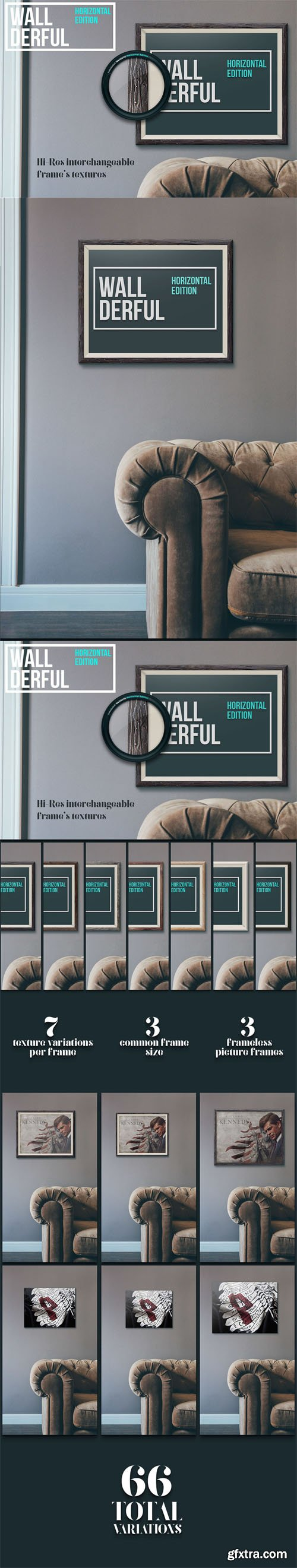 Frame On Wall Presentation Mock-up