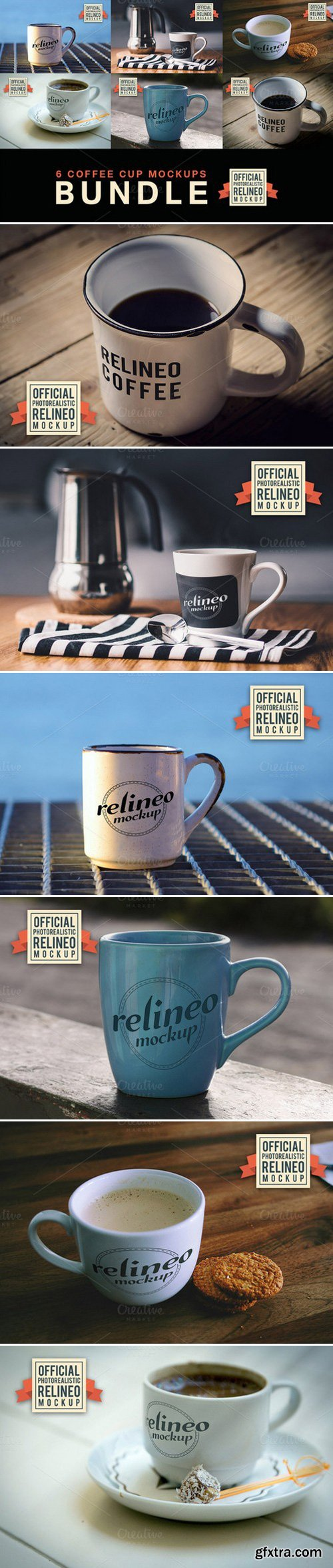 CM - 6 Coffee Cup Mockups 399160