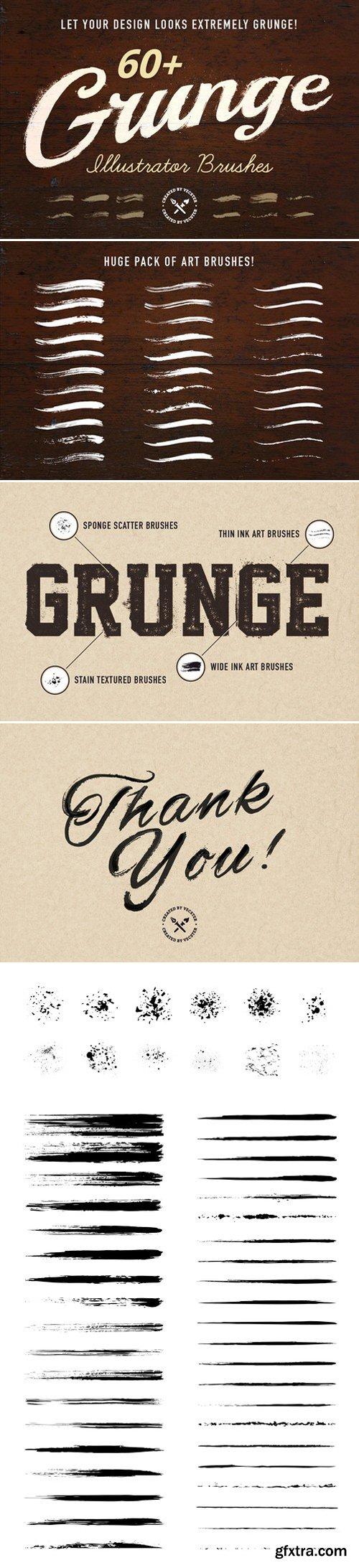 CM - 60+ Grunge Illustrator Brushes 398431