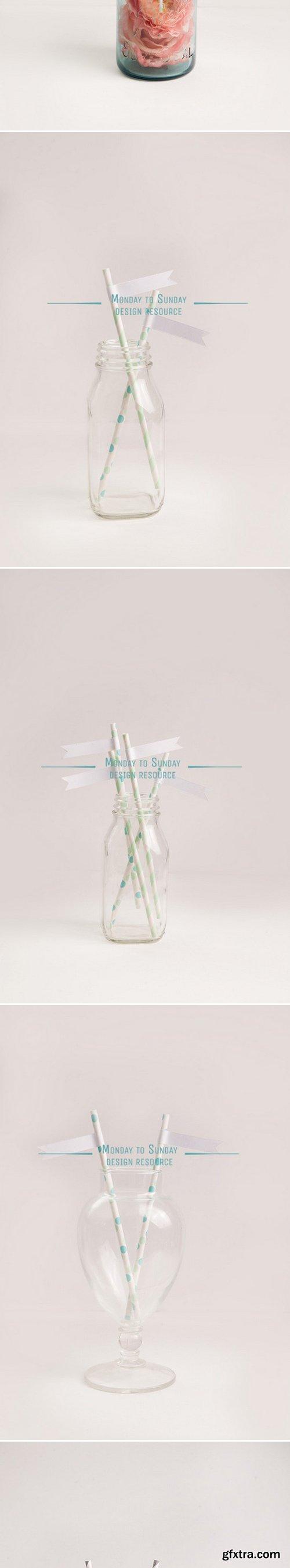 CM - 11 Cute Straw Flag Mockups 398087