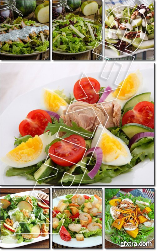 Salad, very simple and delicious salad - Stock photo