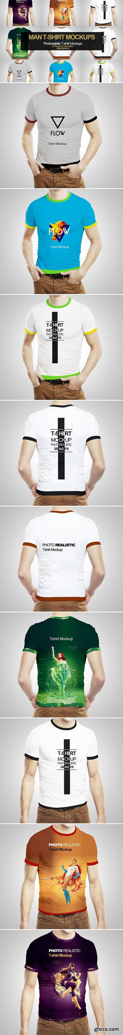 CM - 3 in 1 Man T-Shirt Mock-up 399509
