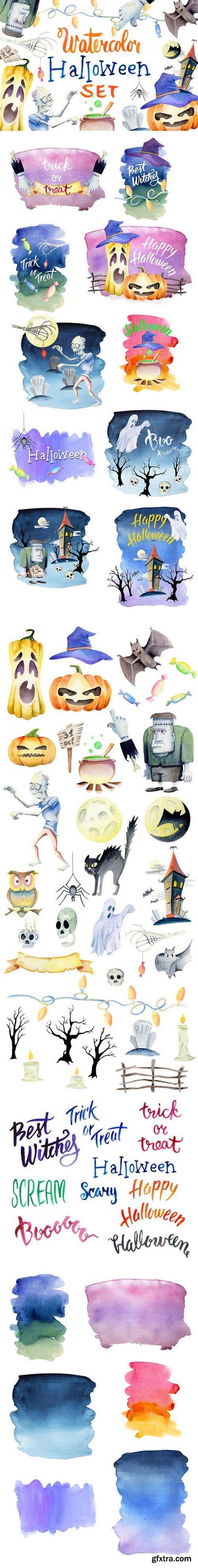 CM - Watercolor Halloween Set 399511