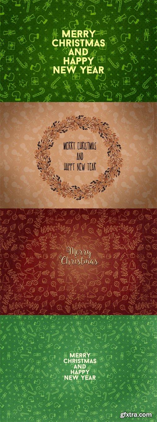 3 Christmas Cards PSD Template