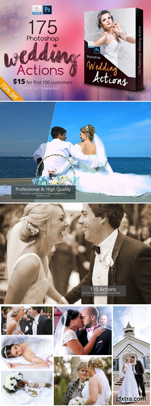 CM - 175 Photoshop Wedding Actions 400466
