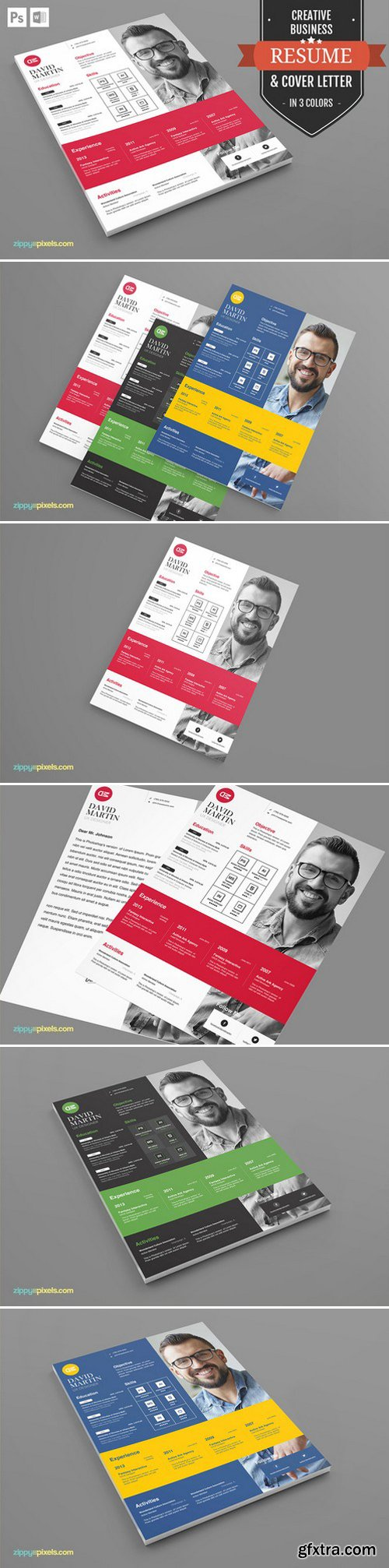 CM - Resume Template in MS Word And PSD 394522
