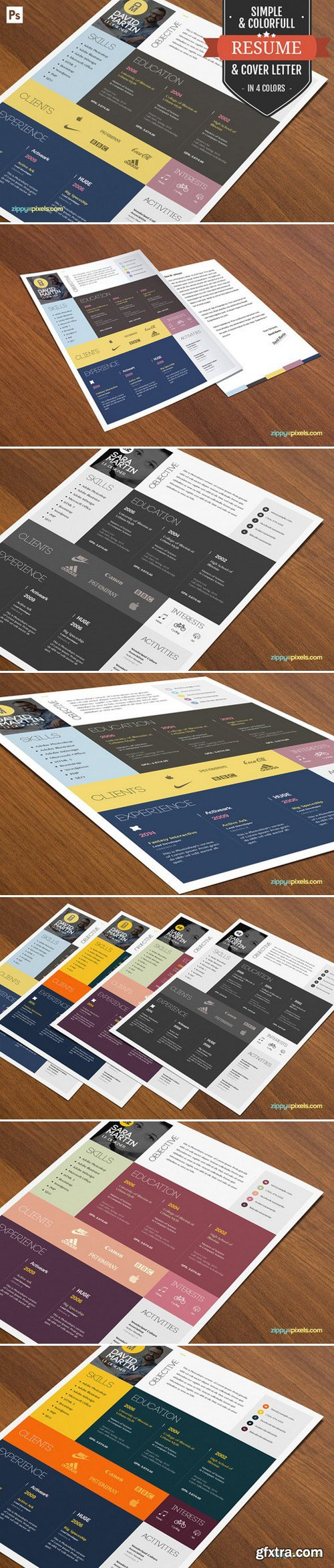 CM - Resume/Cover Letter Template Layout 394480