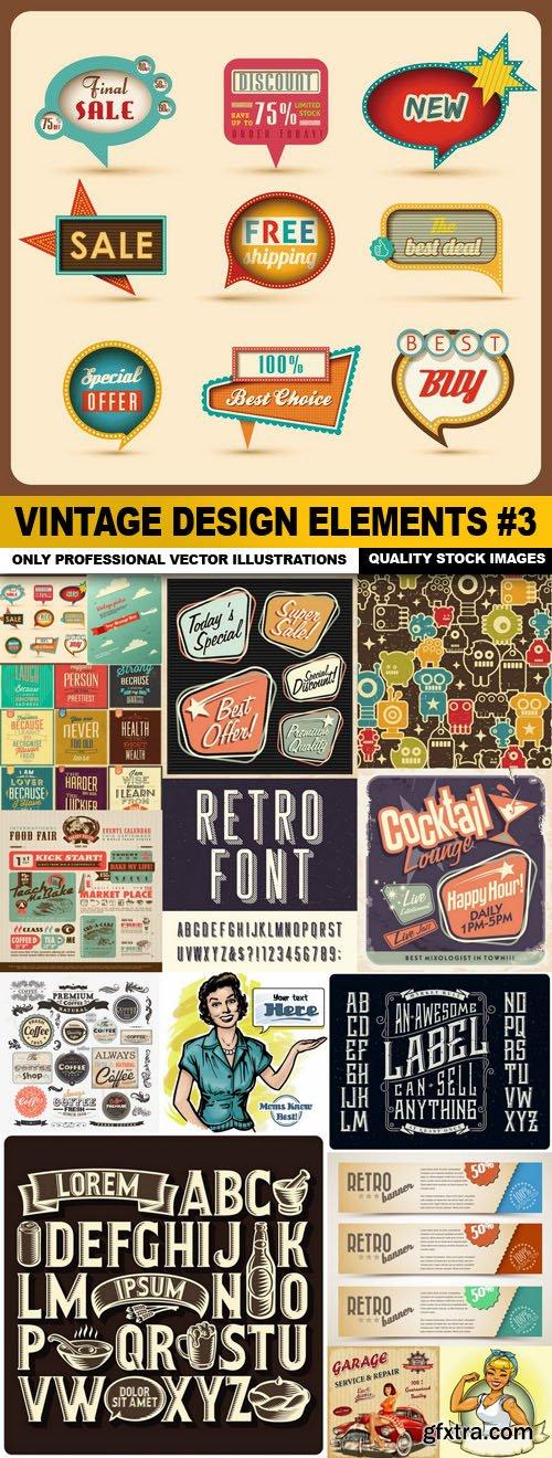 Vintage Design Elements #3 - 15 Vector