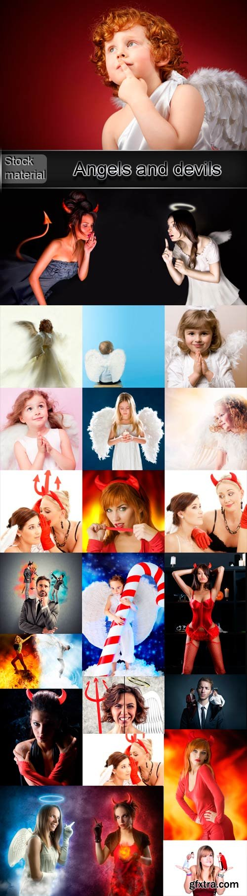 Angels and devils raster graphics