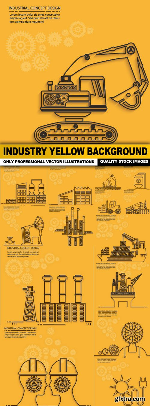 Industry Yellow Background - 15 Vector